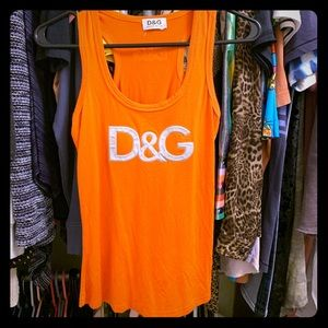 D & G Orange Tank Top